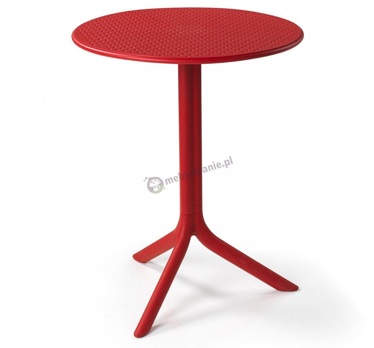 Nardi Step stolik ogrodowy okrągły Rosso