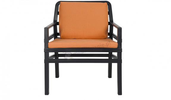 Nardi Aria wygodny fotel ogrodowy Antracite/Arancio