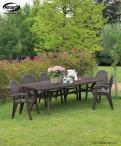 Aranżacja z użyciem stołu Nardi Toscana 250 Caffe
