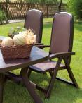 Nardi Toscana 250 stół ogrodowy rozkładany Caffe w ogrodzie