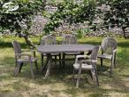 Aranżacja z zastosowaniem stołu plastikowego ogrodowego Nardi Toscana 165