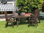 Nardi Toscana 165 stół plastikowy ogrodowy Antracite - aranżacja