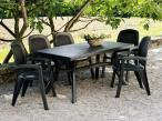 Nardi Toscana 160 stół ogrodowy plastikowy Antracite - aranżacja