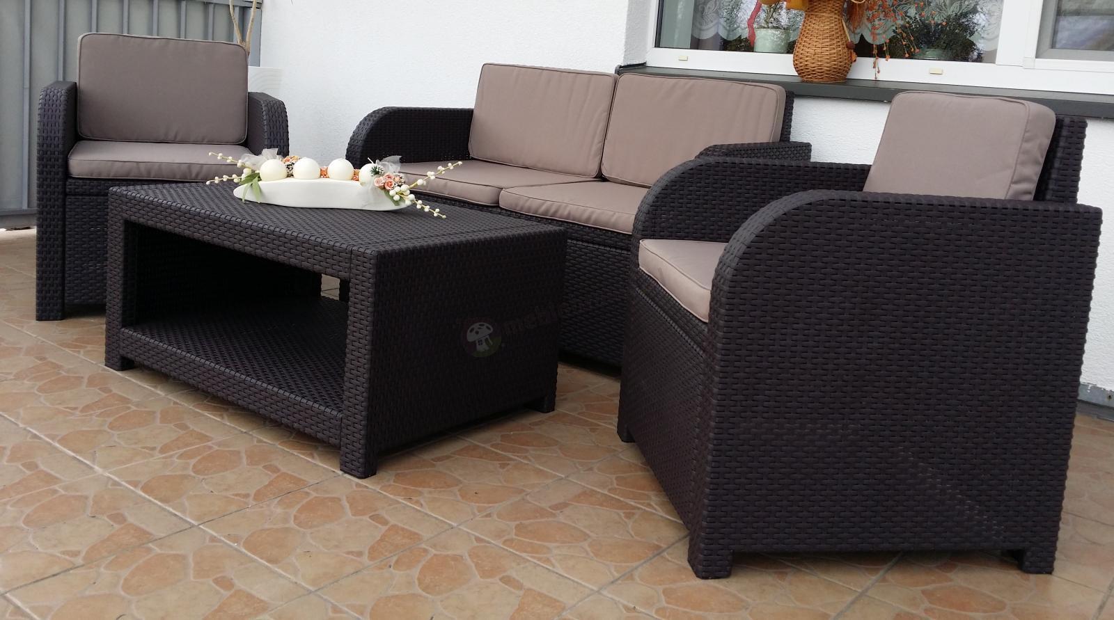 Meble Ogrodowe Monaco Set Technorattan Zestaw : Modena Lounge Set  Allibert by Keter  Zestaw ogrodowy  Meblobranie
