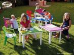 Nardi Ariel krzesło ogrodowe dla dzieci Lime aranżacja w ogrodzie