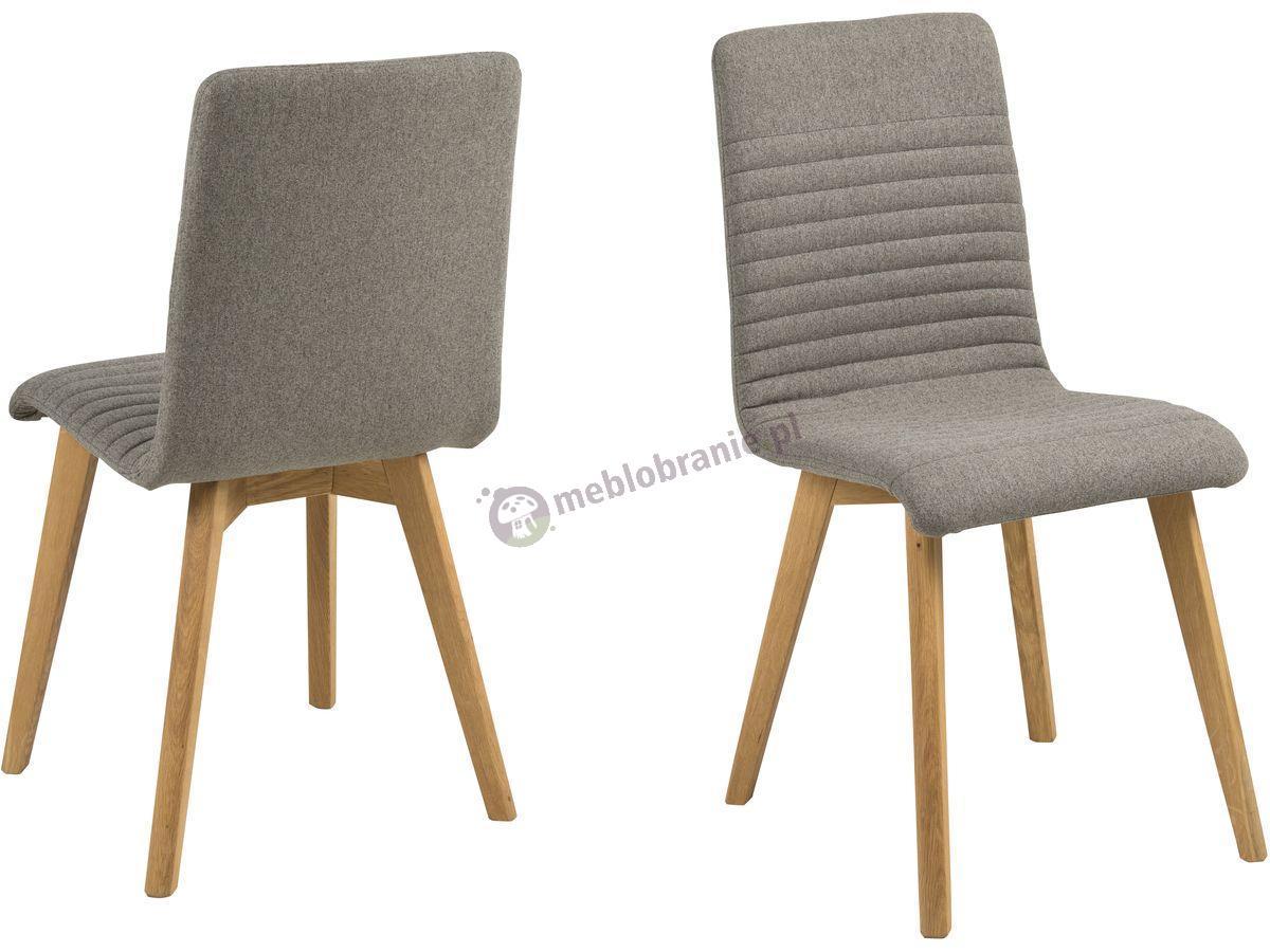 Actona Arosa krzesło do jadalni drewniane jasnoszare