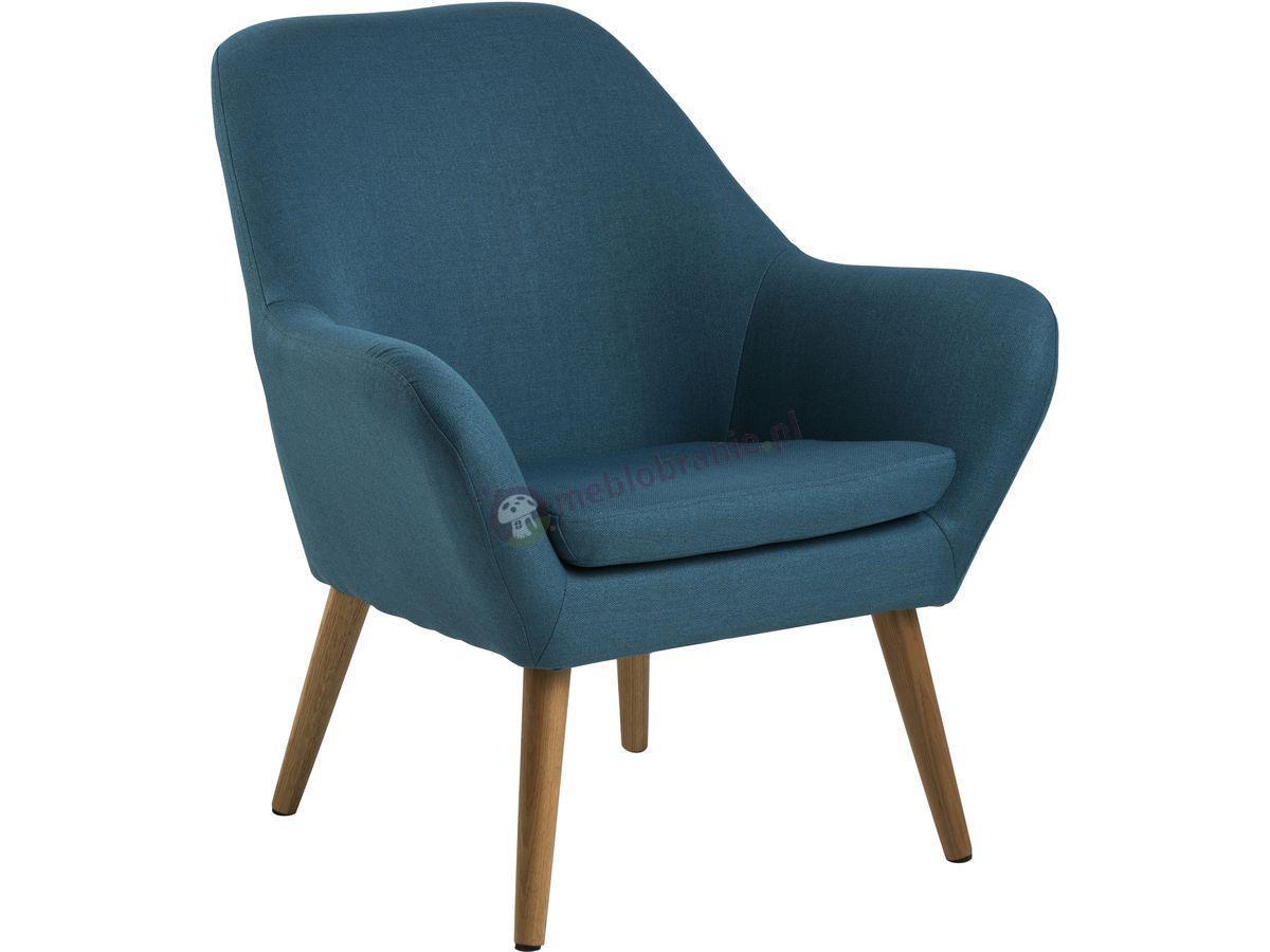 Actona Astro fotel do salonu nowoczesny Petrol blue