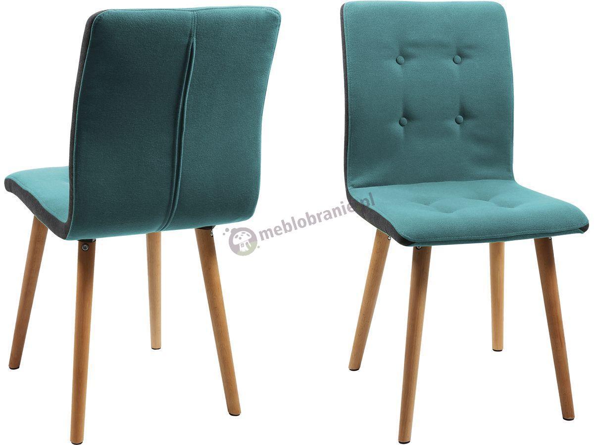 Actona Frida krzesło designerskie w kolorze jasny Petrol blue