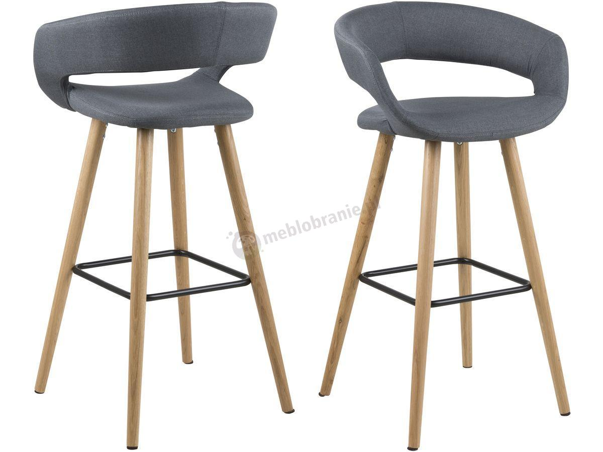 Actona Grace Krzesło Barowe Drewniane Ciemnoszare