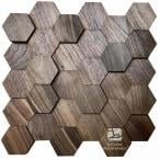 Hexagon series 3D – Orzech amerykański - Natural Wood Panels