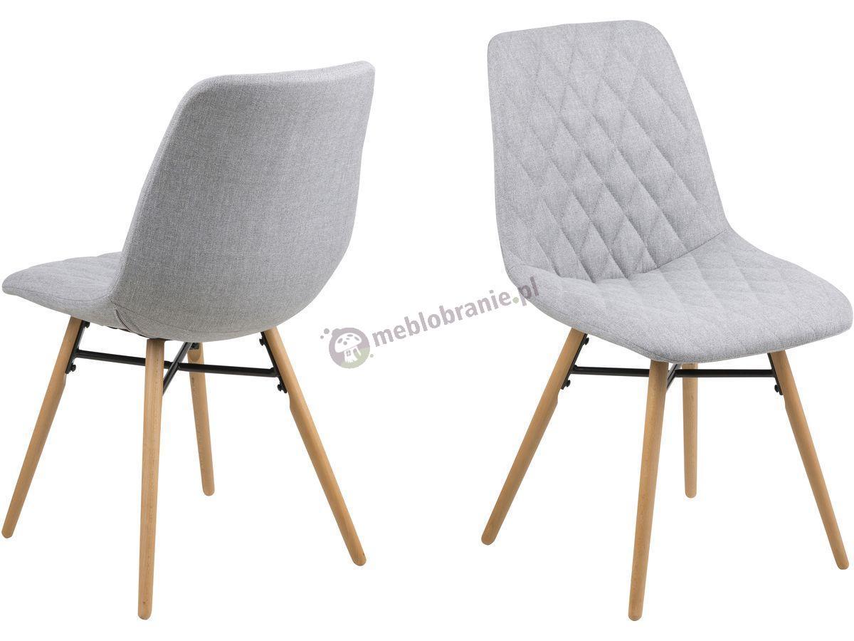 Actona Lif krzesło pikowane nowoczesne jasnoszare