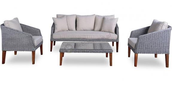 GAMBITO Melange Grey & Beige meble ogrodowe w stylu skandynawskim