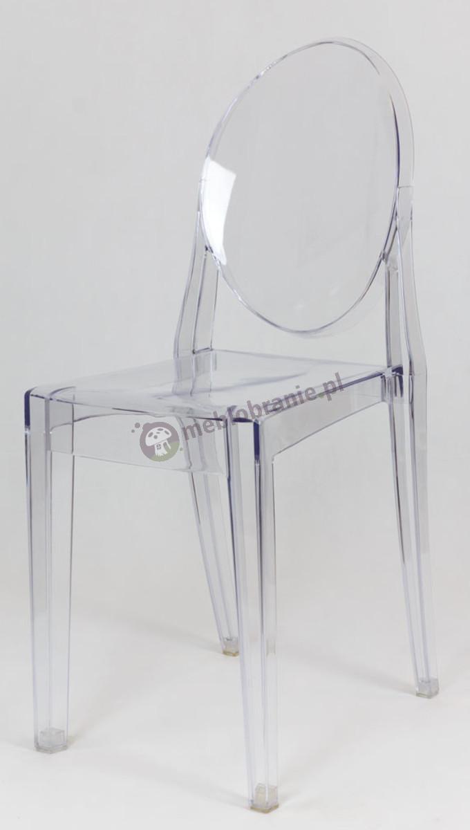 Krzesło Victoria Ghost KR003 inspirowane transparentne