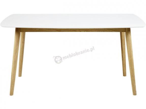 Actona Nagano stół dębowy nowoczesny biały