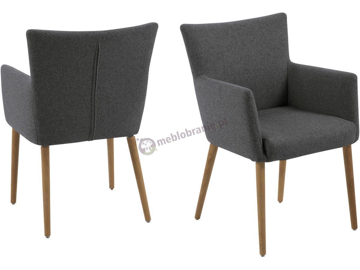 Actona Nellie krzesło tapicerowane ciemnoszare