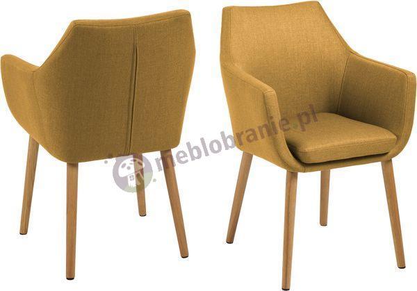 Actona Nora żółty fotel w odcieniu Curry