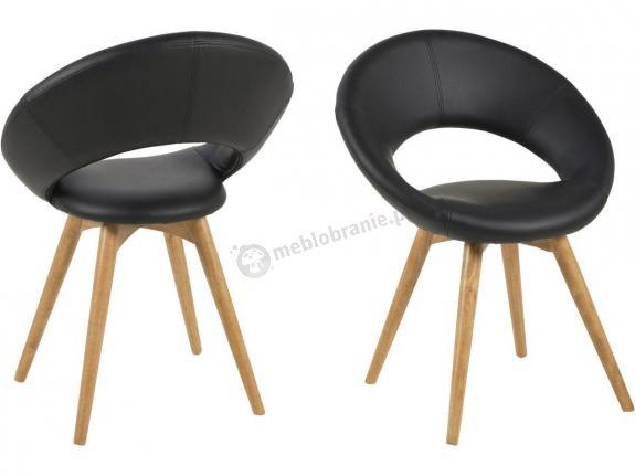 Actona Plump fotel okrągły z ekoskóry czarny