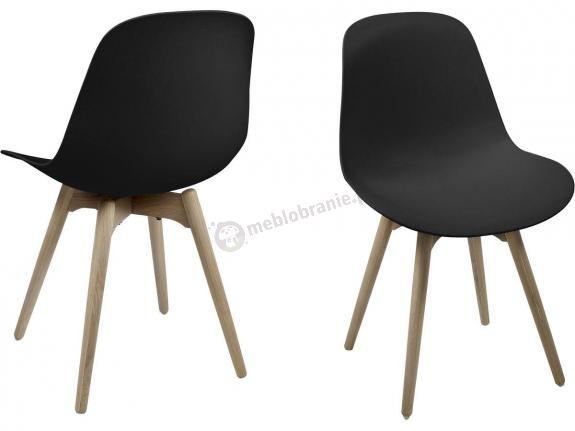 Actona Scramble krzesło z plastiku do jadalni czarne