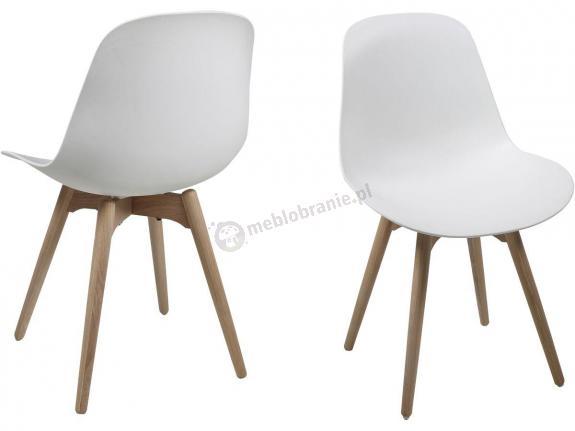 Actona Scramble krzesło białe plastikowe do jadalni