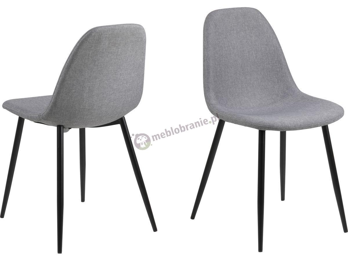 Actona Wilma krzesło z metalowymi nogami szare