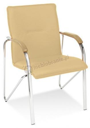 Samba krzesło do poczekalni buk/beżowe