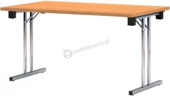 Stół konferencyjny składany PREMIUM chromowany - 160x80 cm