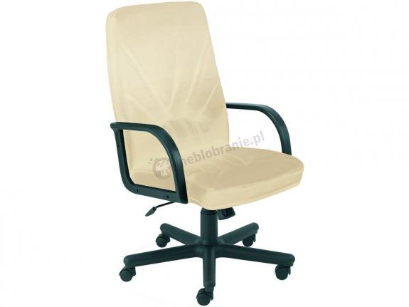 Biurowy fotel z ekoskóry Manager KD beżowy