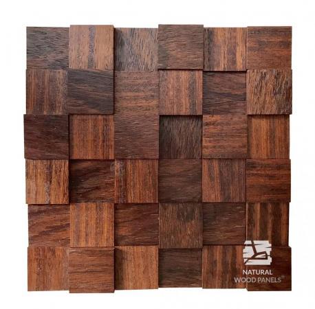 Merbau kostka 3d *056 - Natural Wood Panels