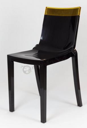 Krzesło Hicut KR009 czarne plastikowe