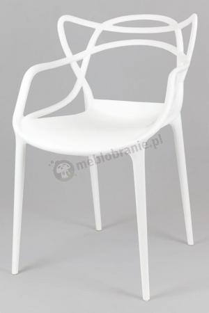 Krzesło inspirowane białe KR013 podłokietniki