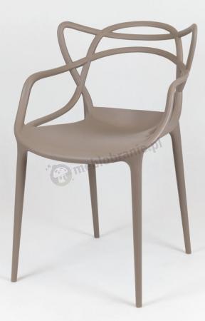 Krzesło plastikowe kawa z mlekiem KR013