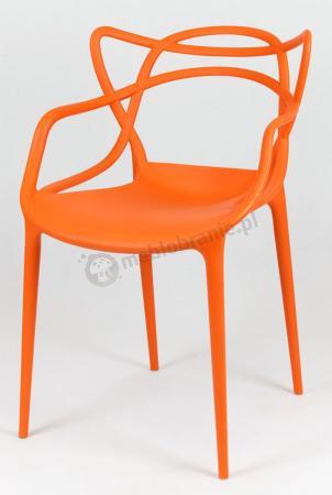 Krzesło z podłokietnikami KR013 pomarańczowe