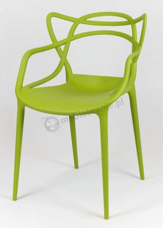 Krzesło KR013 zielone z podłokietnikami