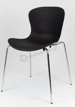 Krzesło czarne metalowe nogi KR019