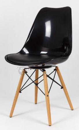 Krzesło czarne połysk KR020