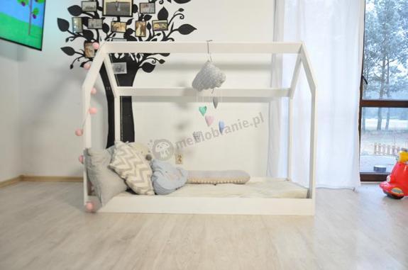 Łóżko domek dla dziecka Amelia białe