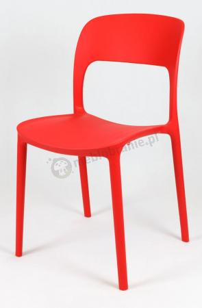 Krzesło polipropylenowe czerwone KR022