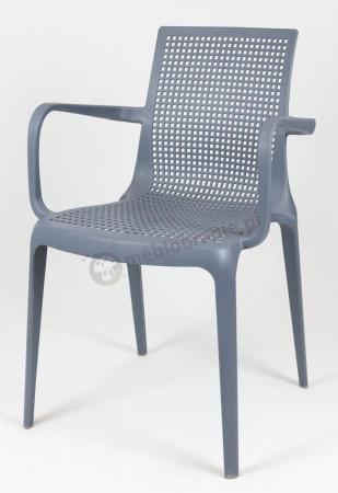 Krzesło szare z podłokietnikami KR031 szare