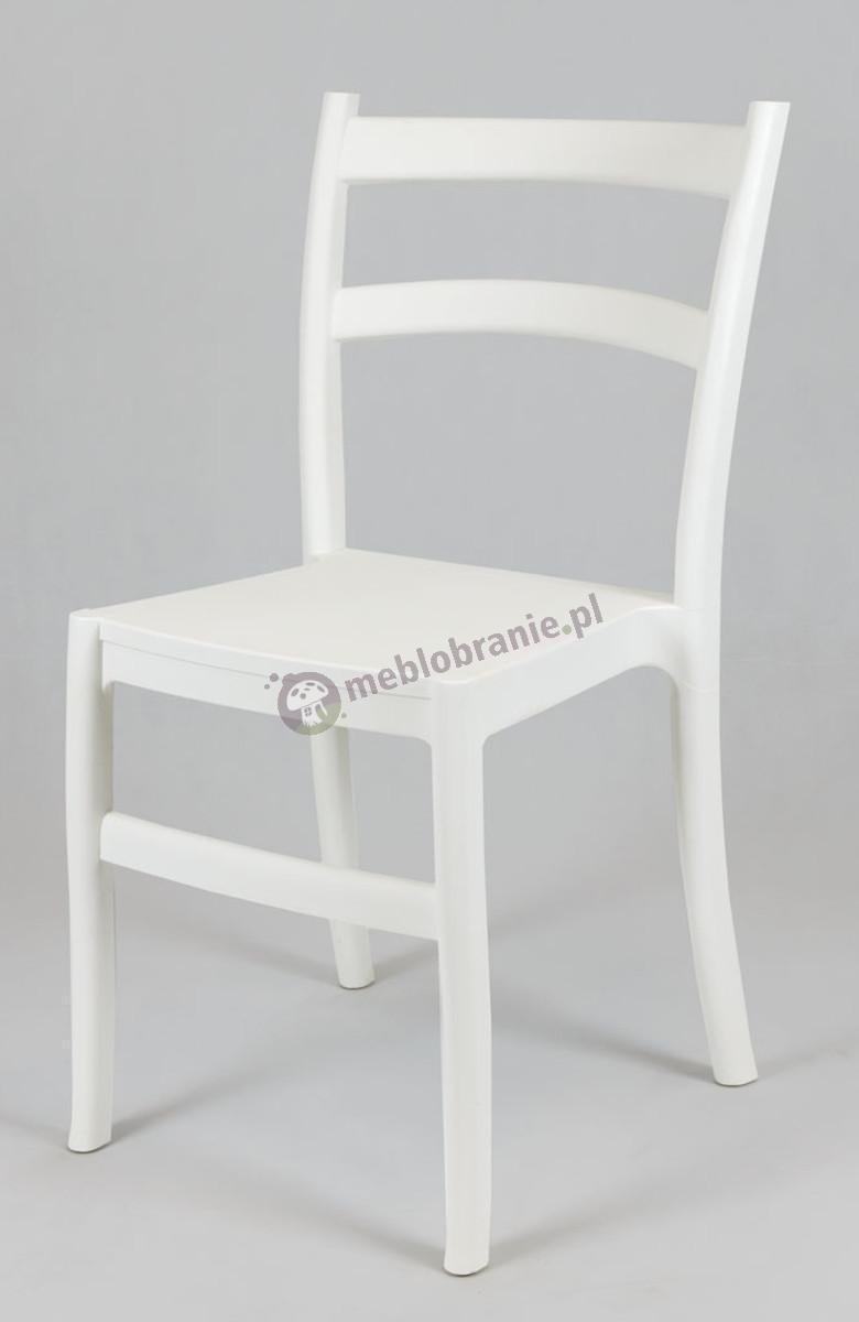 Krzesło Retro białe KR032 polipropylenowe