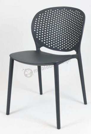 Czarne krzesło do jadalni KR033