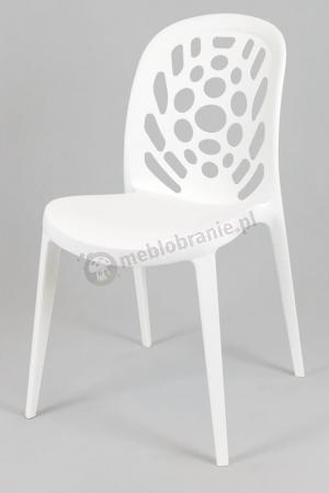 Krzesło ażurowe białe KR034