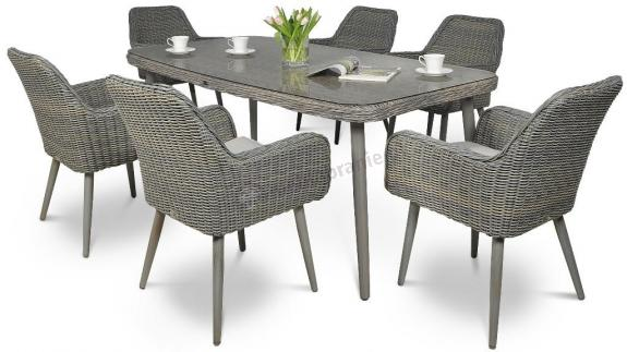 Komplet stołowy Nicea 6+1 Grey