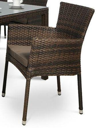 Fotel Lerida technorattan Modern Brown