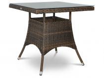 Lugo Modern Brown stół technorattan