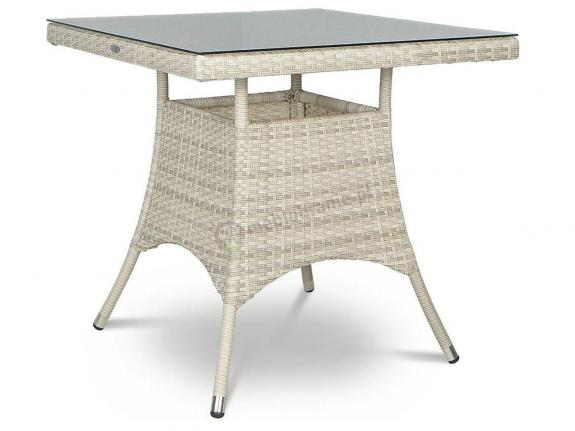 Lugo Modern White stół technorattan