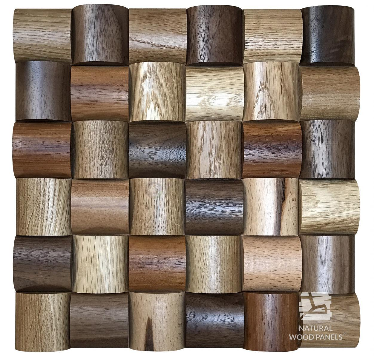Panele Wave series – Mix *102 Natural Wood Panels