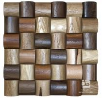Wave series - Mix *102 - Natural Wood Panels