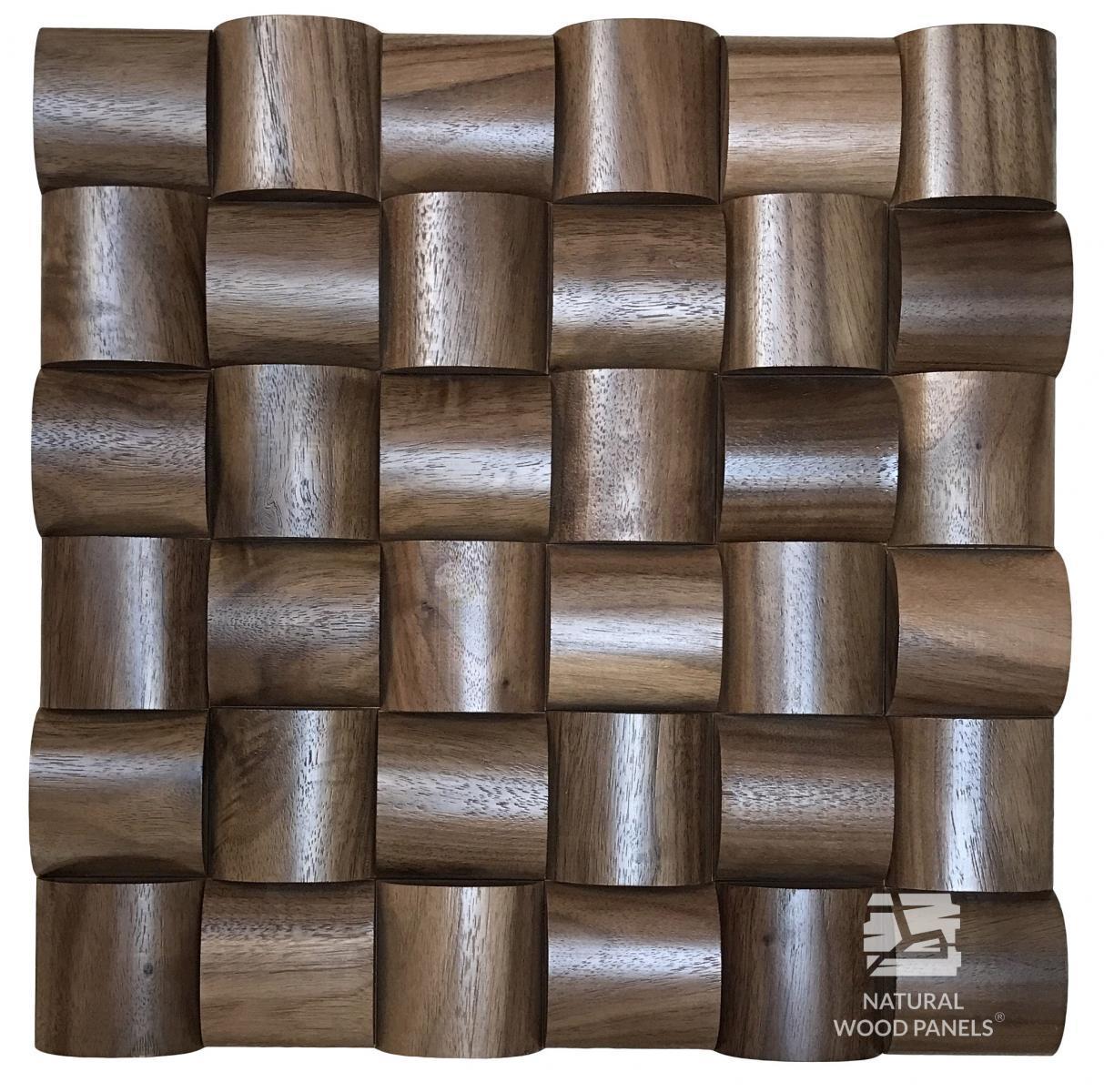 Panele Wave series – Orzech amerykański *100  Natural Wood Panels