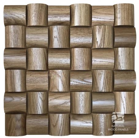 Wave series - Dąb *104 - Natural Wood Panels