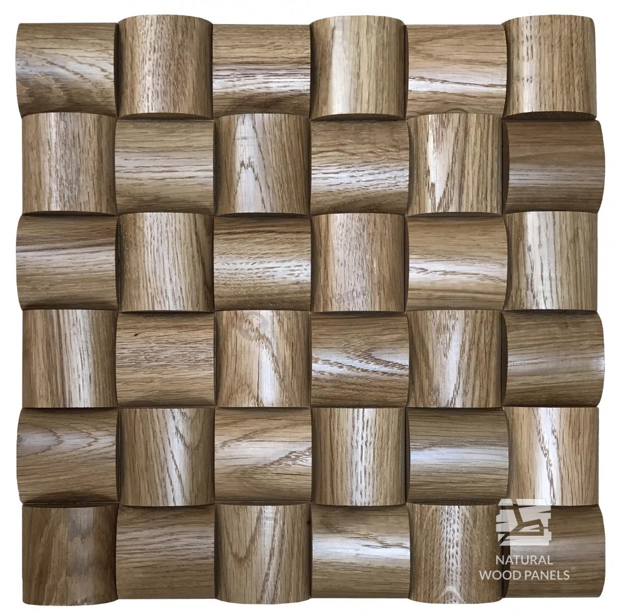 Panele Wave series – Dąb *104  Natural Wood Panels